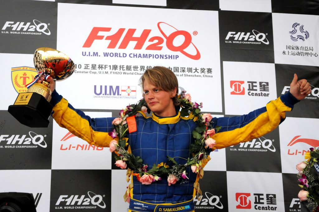 GP OF SHENZHEN CHINA-241010-Race of the UIM F1 Powerboat Grand Prix of Shenzhen China. Final results are: winner Francesco Cantando Singha Team, second position for Philippe Chiappe China CTIC Team and third Pierre Lundin China CTIC Team. This race in China is the 5th leg of the season, October 23-24, 2010. Picture by Vittorio Ubertone/Idea Marketing.